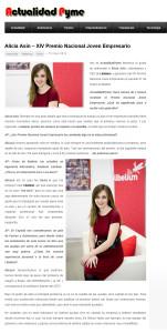 Actualidad Pyme Premio Nacional Joven Empresario