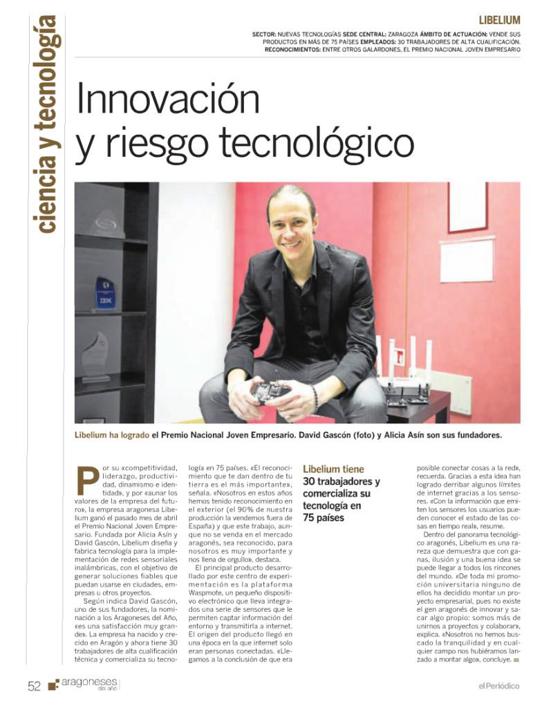ElPeriodicodeAragon.com - Innovación y Riesgo Tecnológico
