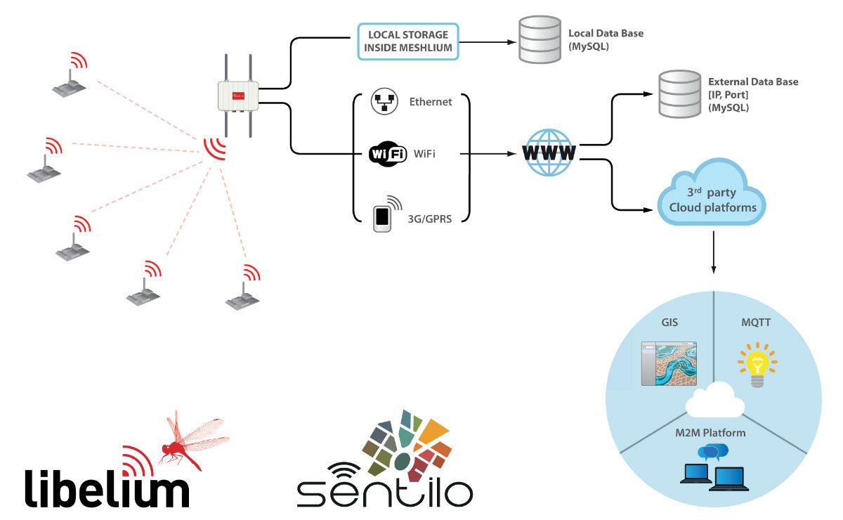 Meshlium Connection Options Cloud