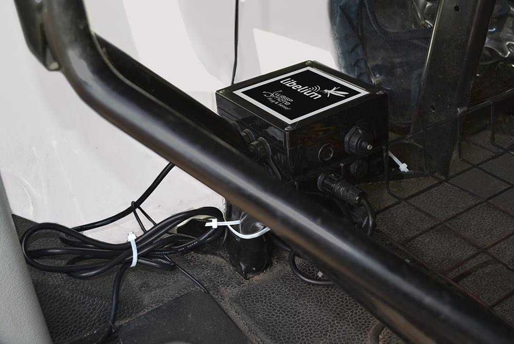 Waspmote Plug & Sense! installed in the cab of a van