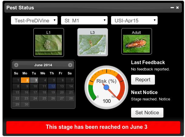 PreDiVine prediction dashboard