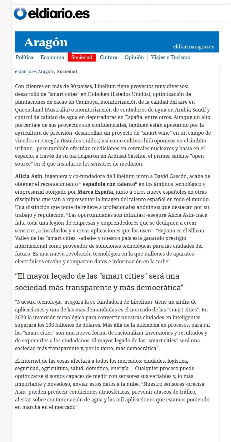 eldiario.es Alicia Asín - Imagen mundial del talento por Marca España