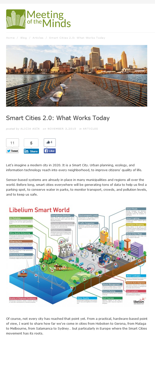 Smart Cities 2.0: What Works Today