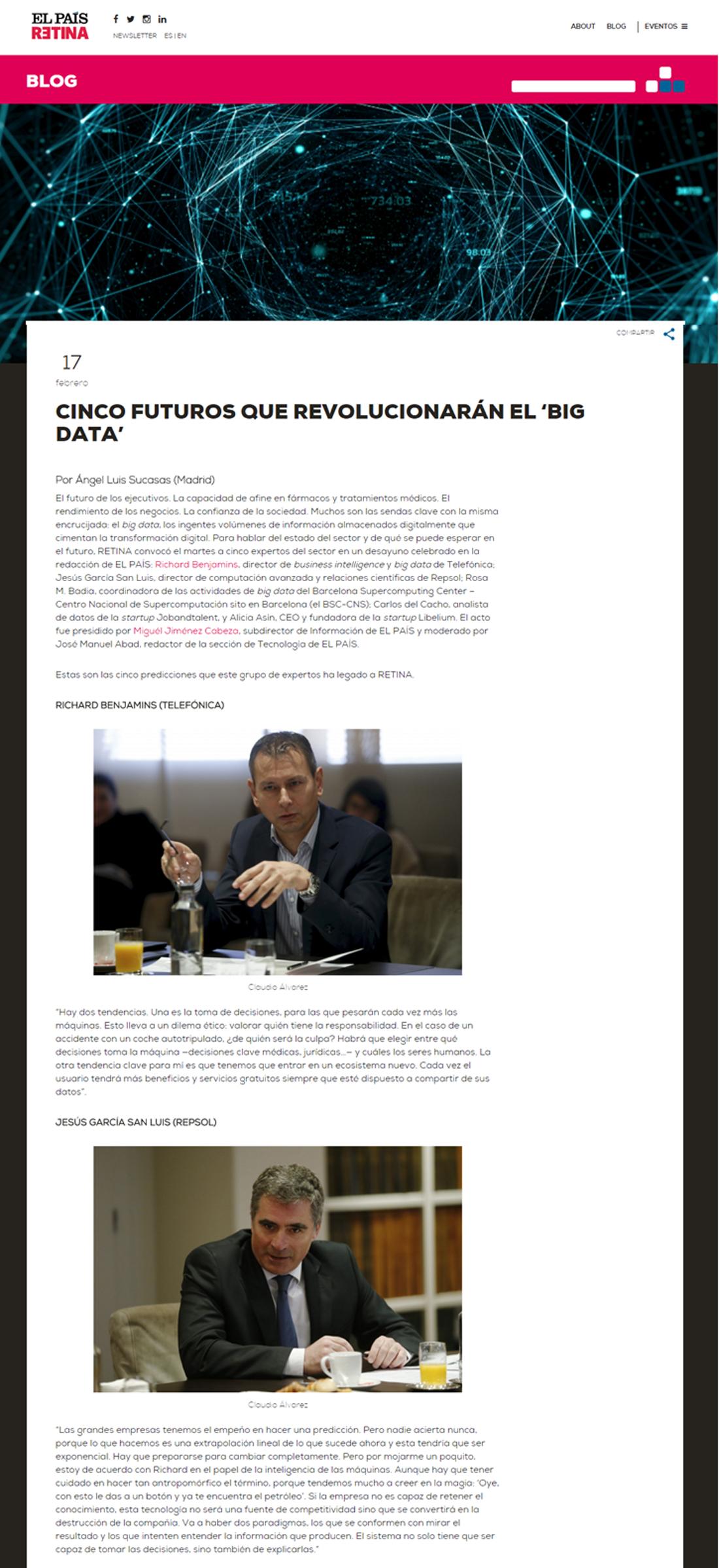 Elpaisretina.com - Cinco Futuros Que Revolucionarán el 'Big Data'