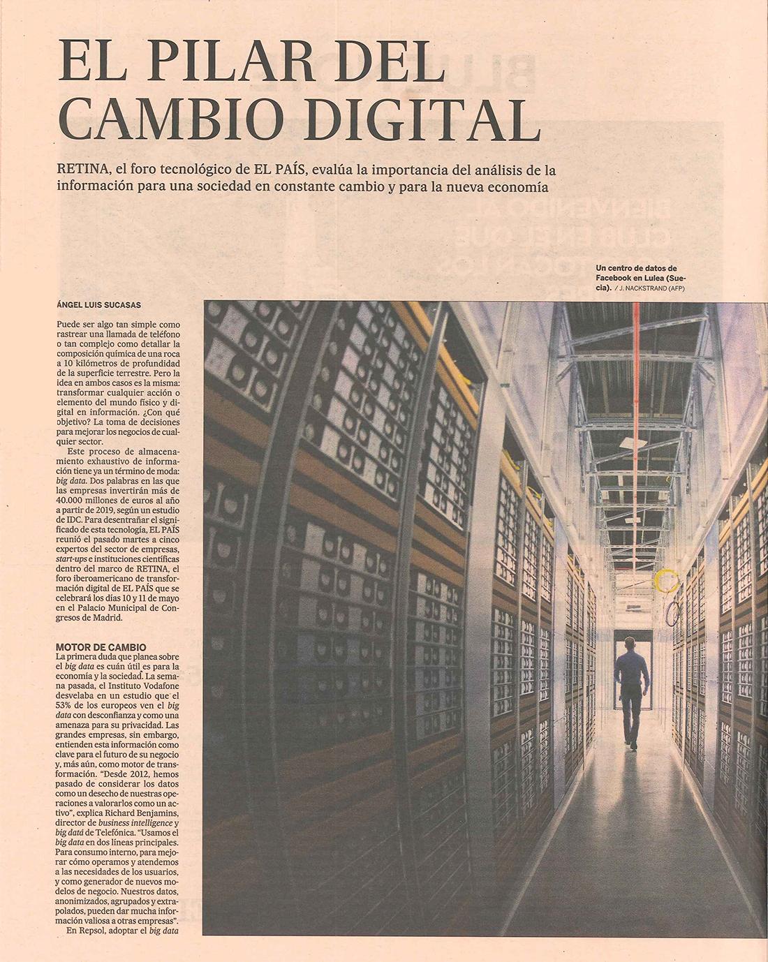 El País - El Pilar del Cambio Digital