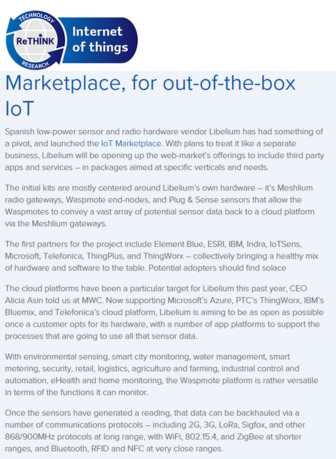 Rethink-iot.com - Marketplace, for out-of-the-box IoT