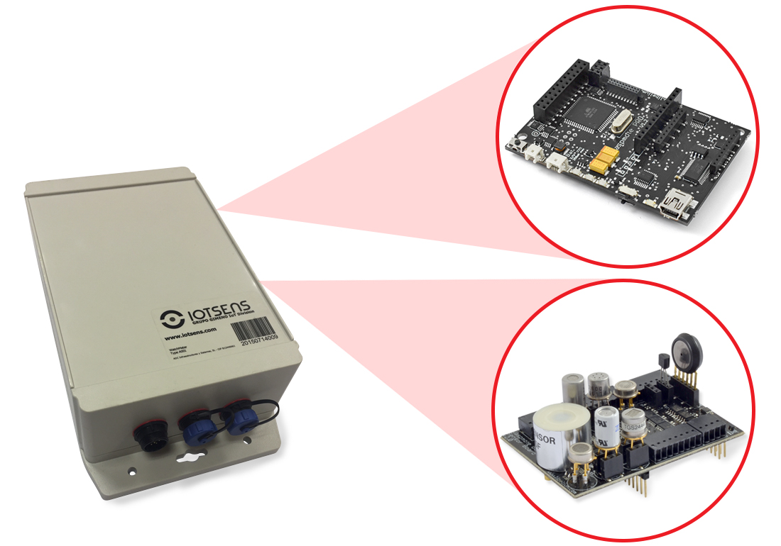 Waspmote OEM platform and Gases Board integrated in IOTSense platform