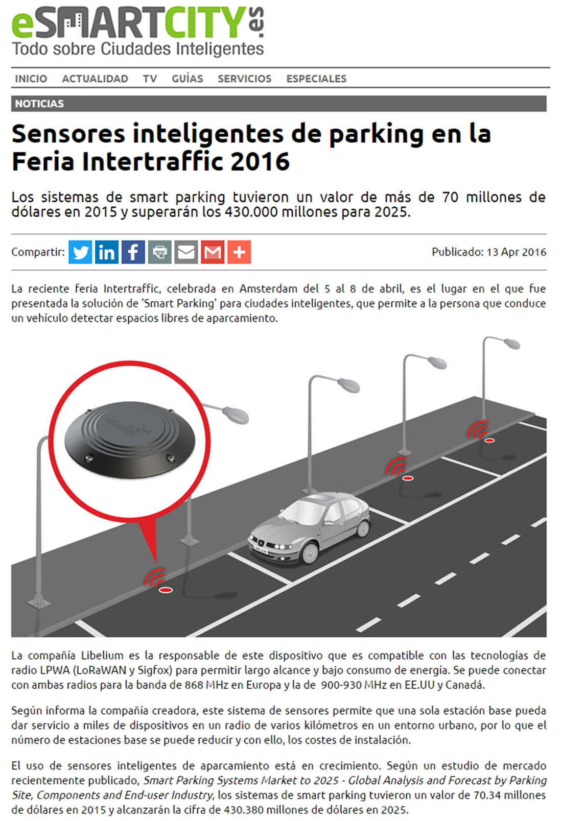 Esmartcity.es – Feria Intertraffic 2016