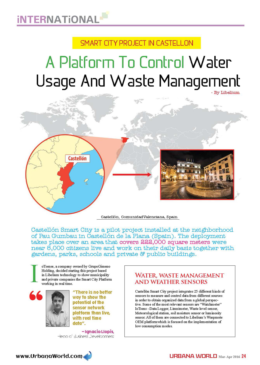 Urbana World – A Platform To Control Water Usage And Waste Management