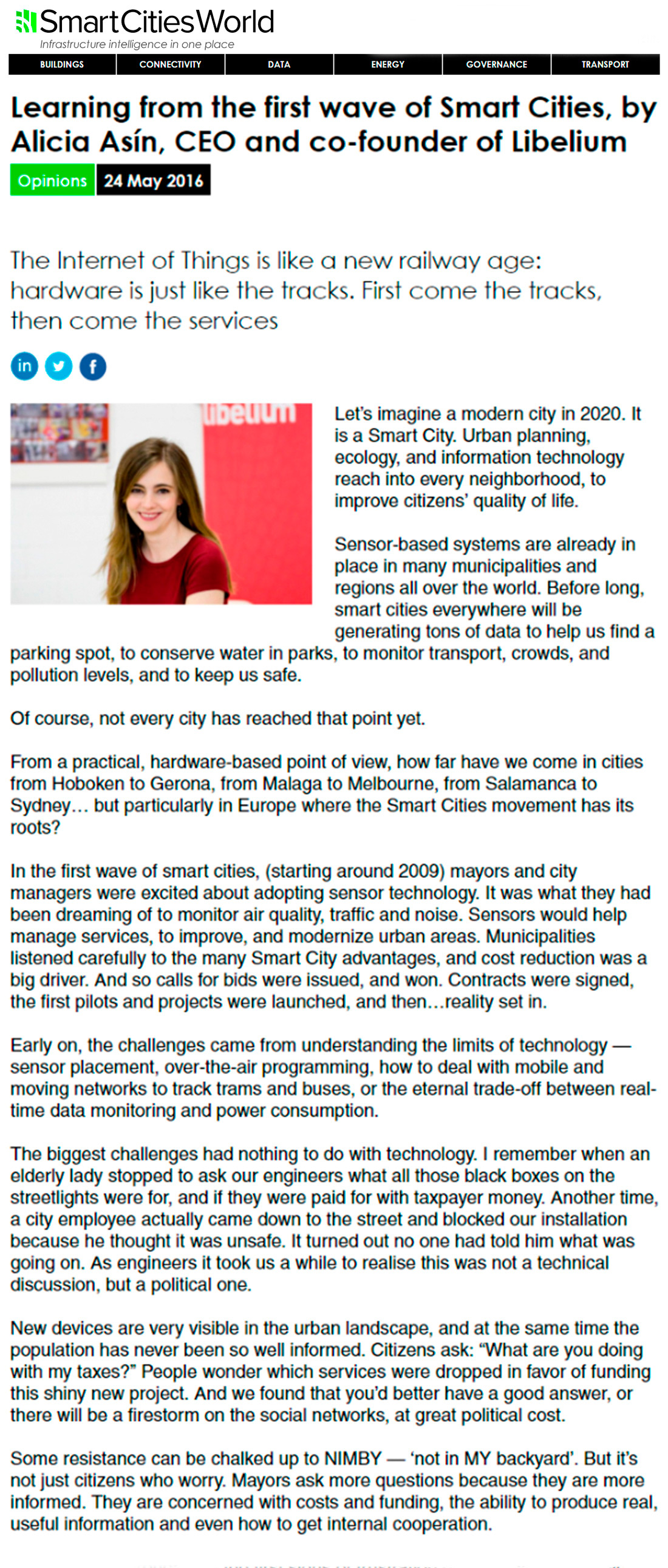 SmartCitiesWorld.net-Alicia Asín article