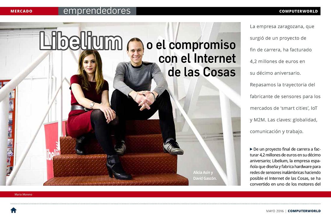 Computerworld – Libelium o el compromiso con el Internet de las Cosas