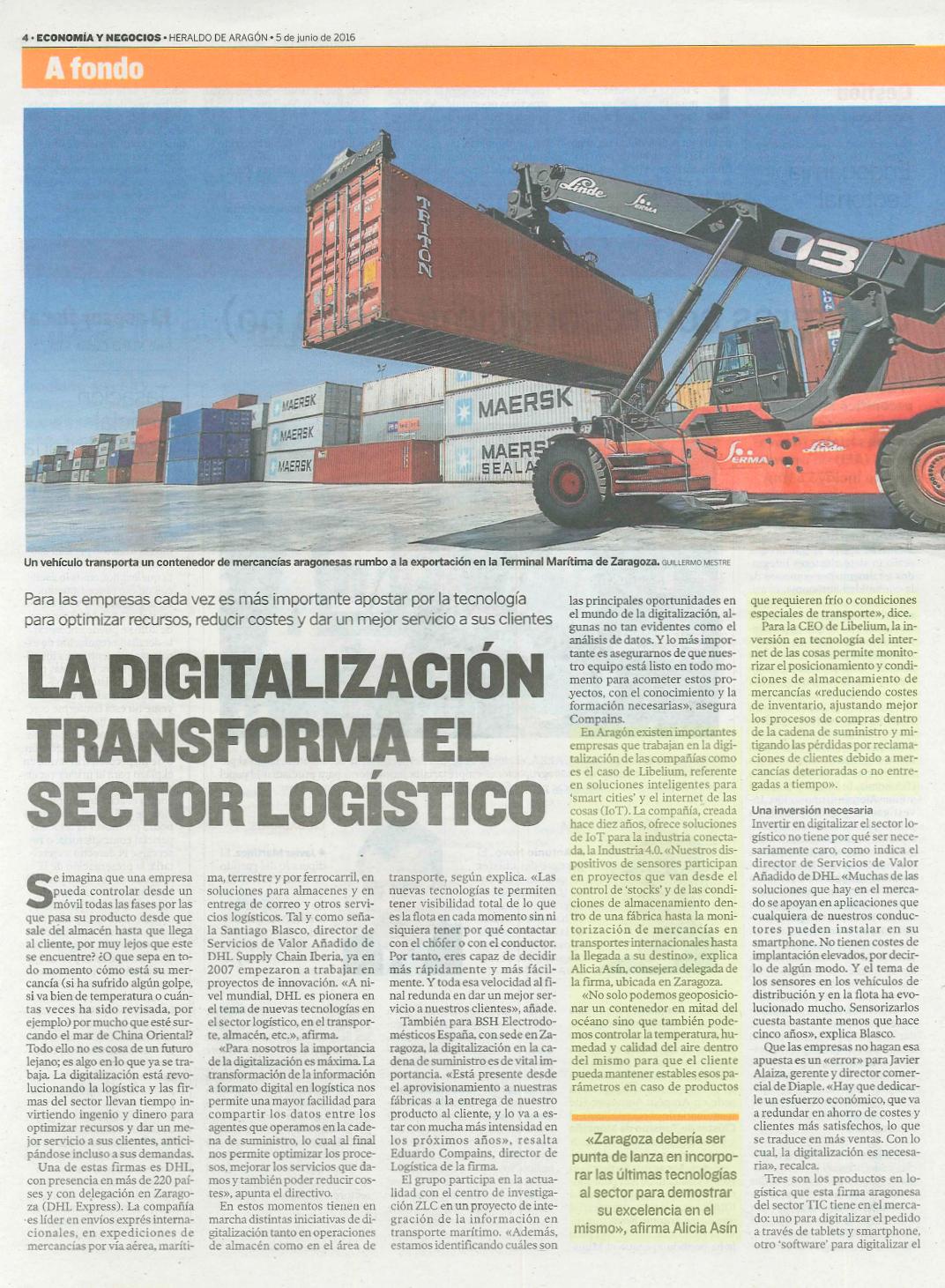 La digitalización transforma el sector logístico