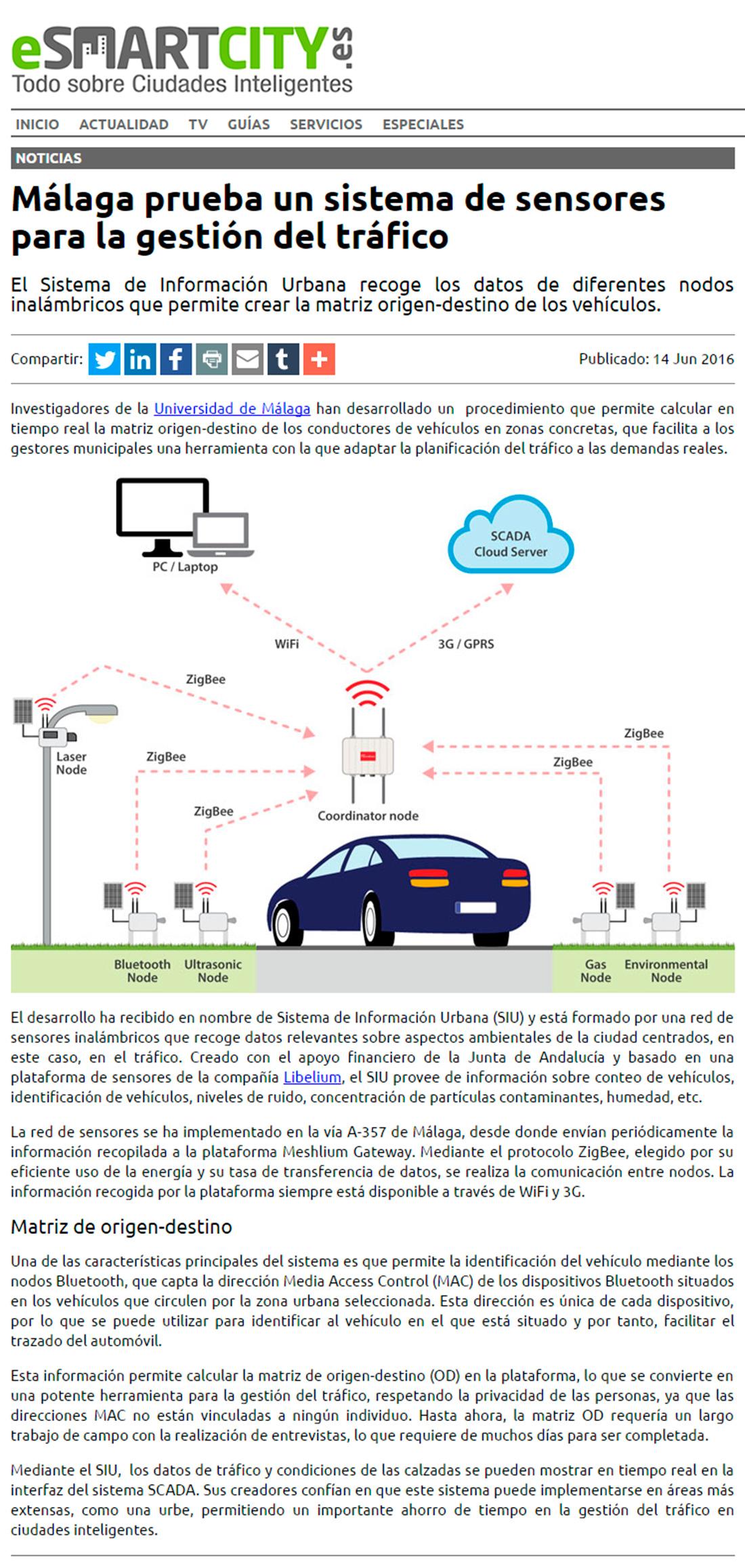 Esmartcity.es – Málaga: sensores para la gestión del tráfico