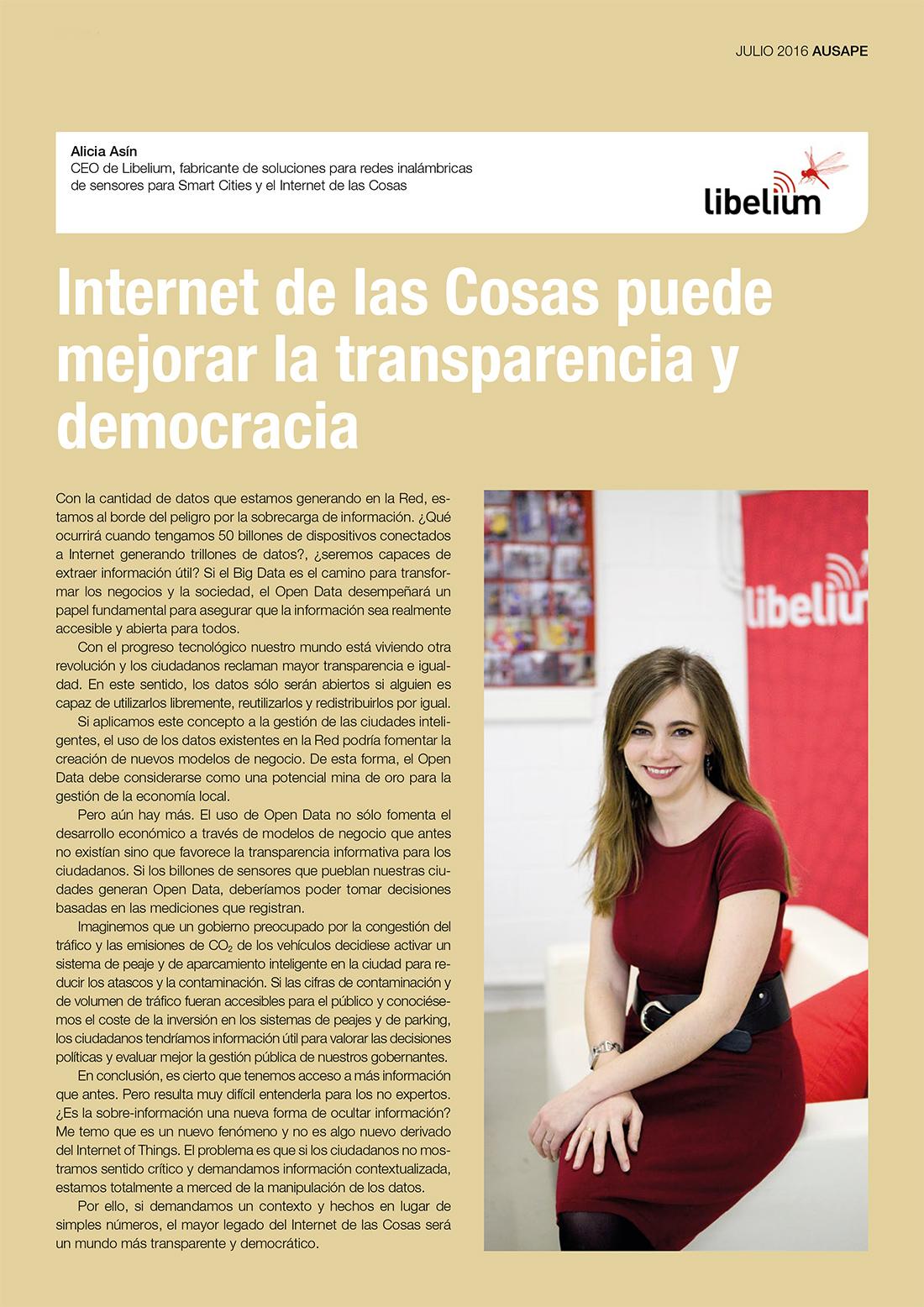 Internet de las Cosas puede mejorar la transparencia y democracia