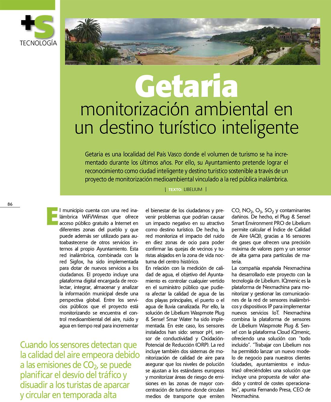 Ciudad Sostenible – Getaria: monitorización ambiental en un destino turístico inteligente