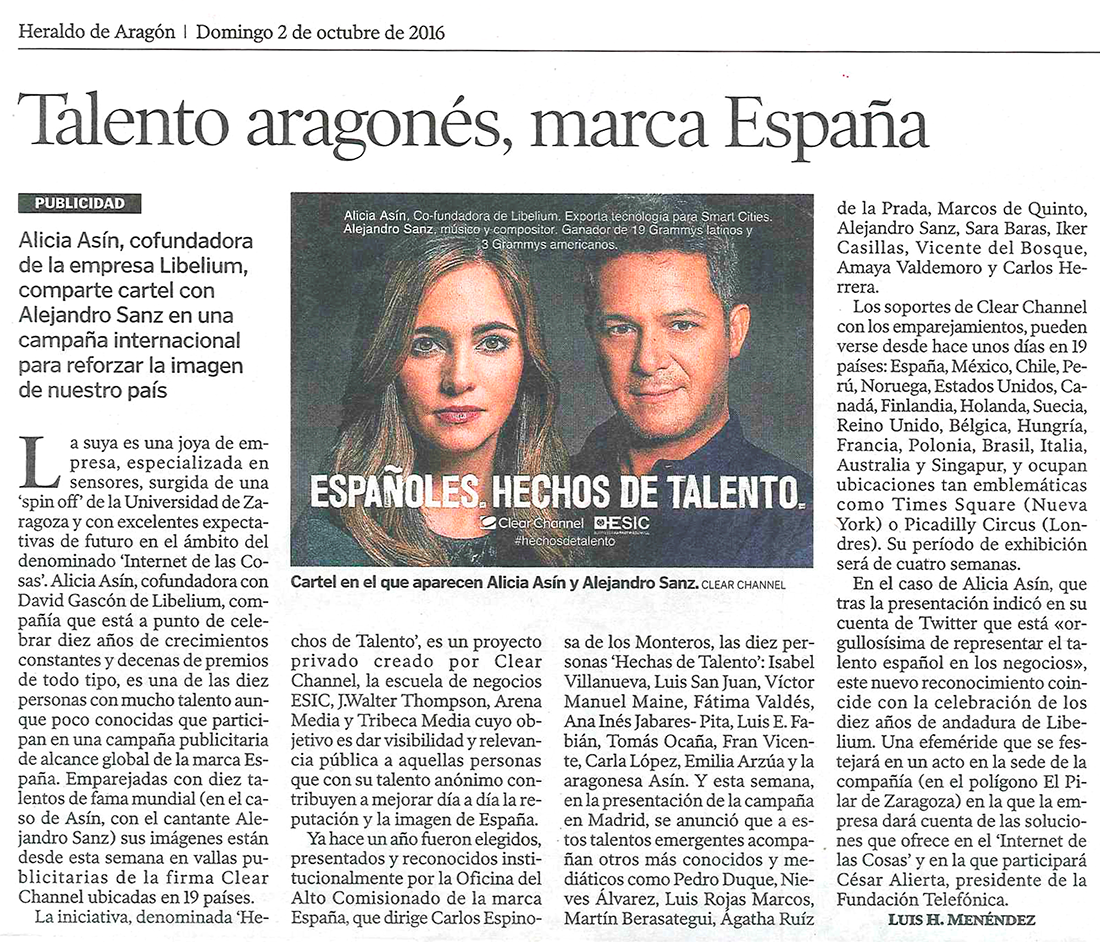 Heraldo de Aragón – Talento aragonés, marca España