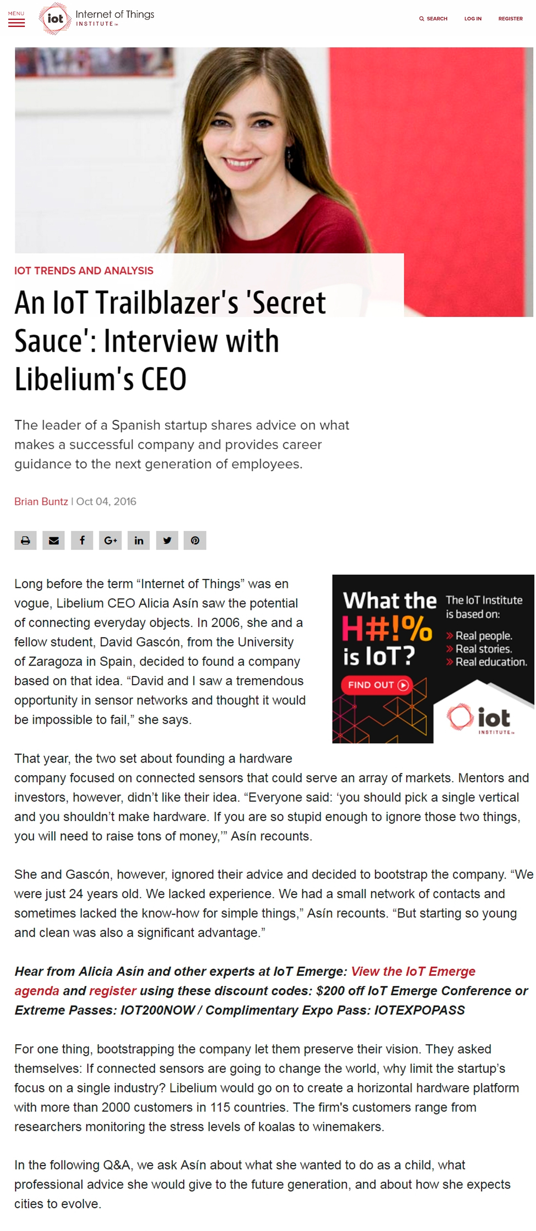 IoT Institute – Interview with Libelium's CEO