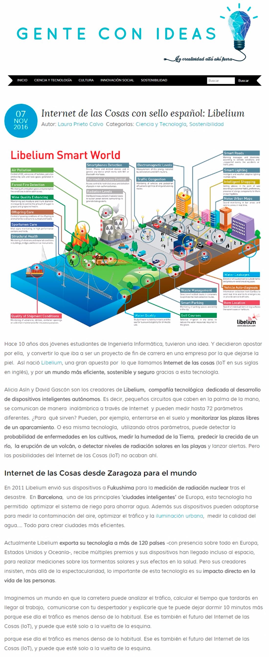 Gente con Ideas – Internet de las Cosas con sello español: Libelium