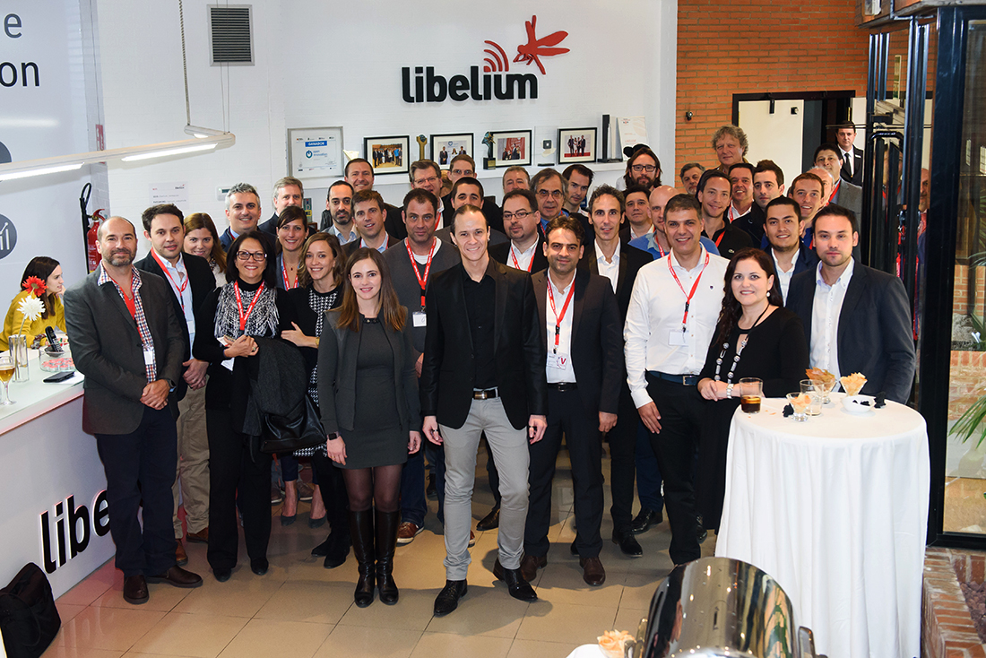 Group photo with the partners and Libelium team members