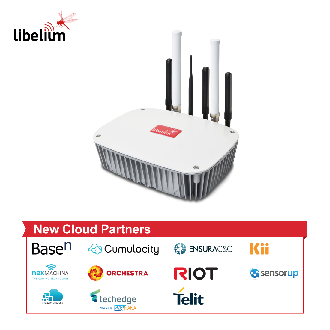 Meshlium IoT Gateway with new Cloud partners
