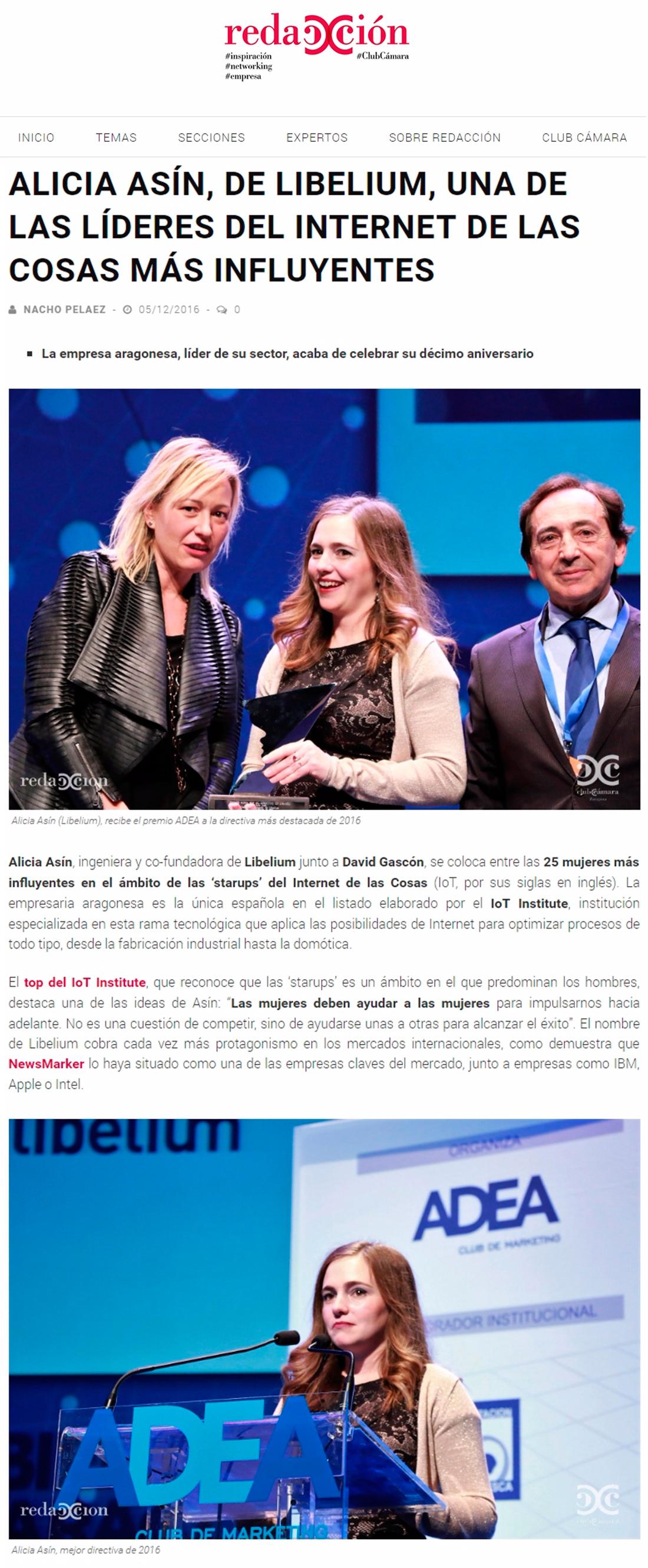 Redacción Cámara Zaragoza – Alicia Asín