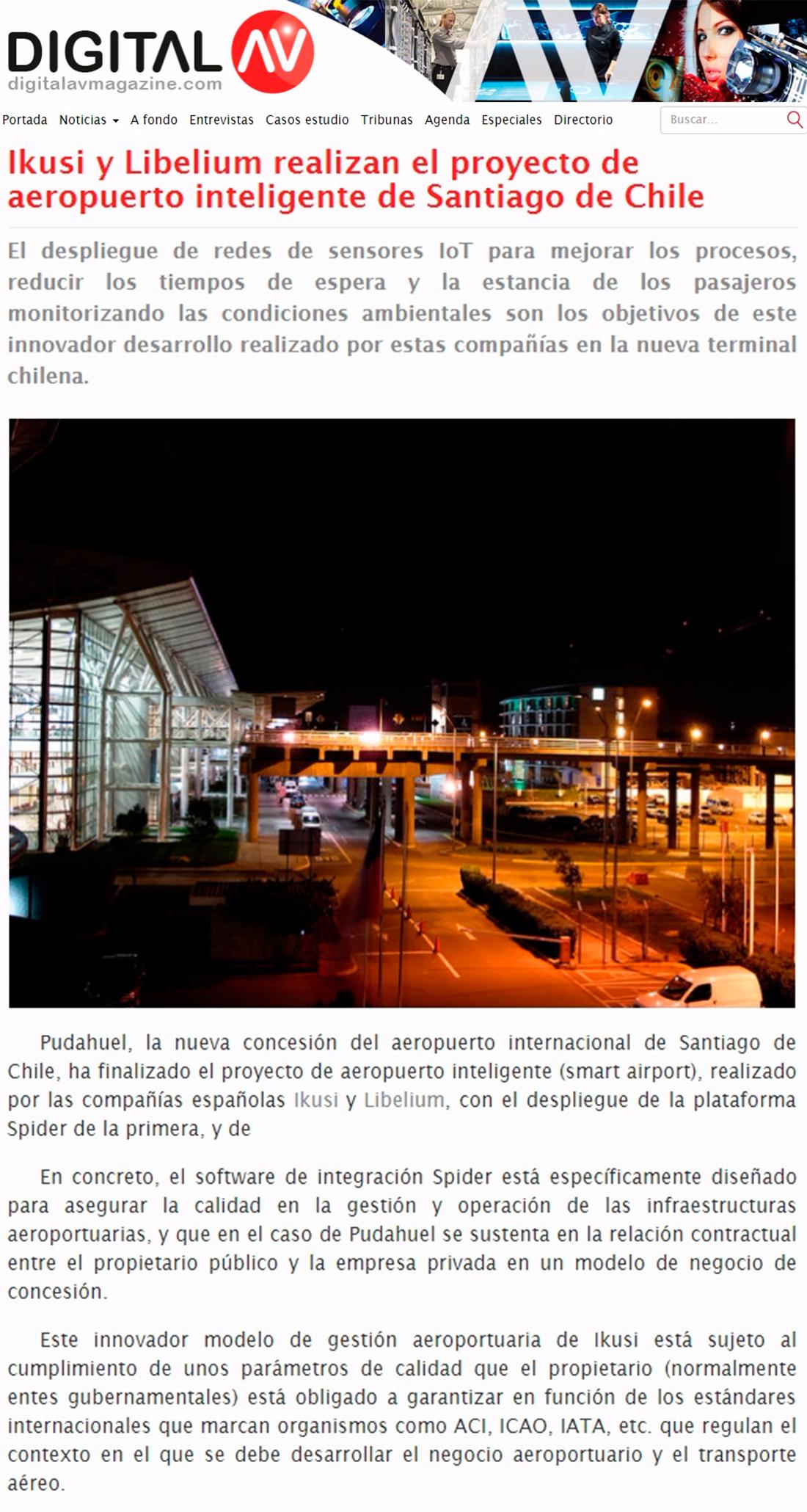 Digital AV Magazine –Proyecto de aeropuerto inteligente en Chile