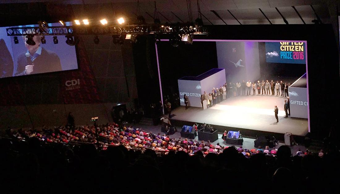 Gifted Citizen Prize awarded at Ciudad de las Ideas Puebla 2016