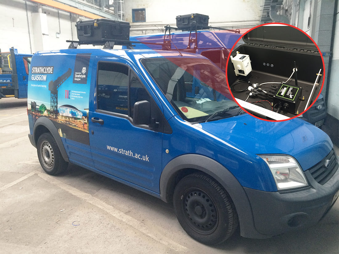 Mobile air quality system integrated in vans
