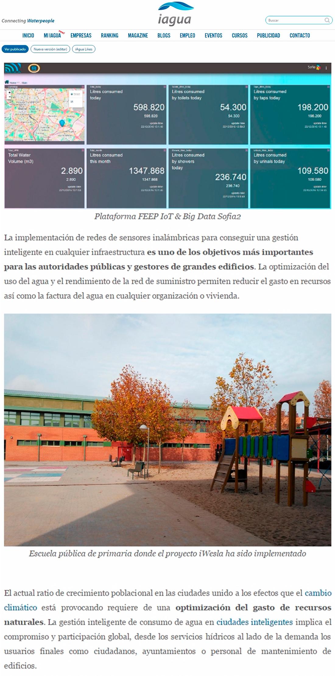 Iagua.es – Gestión inteligente de agua en Madrid