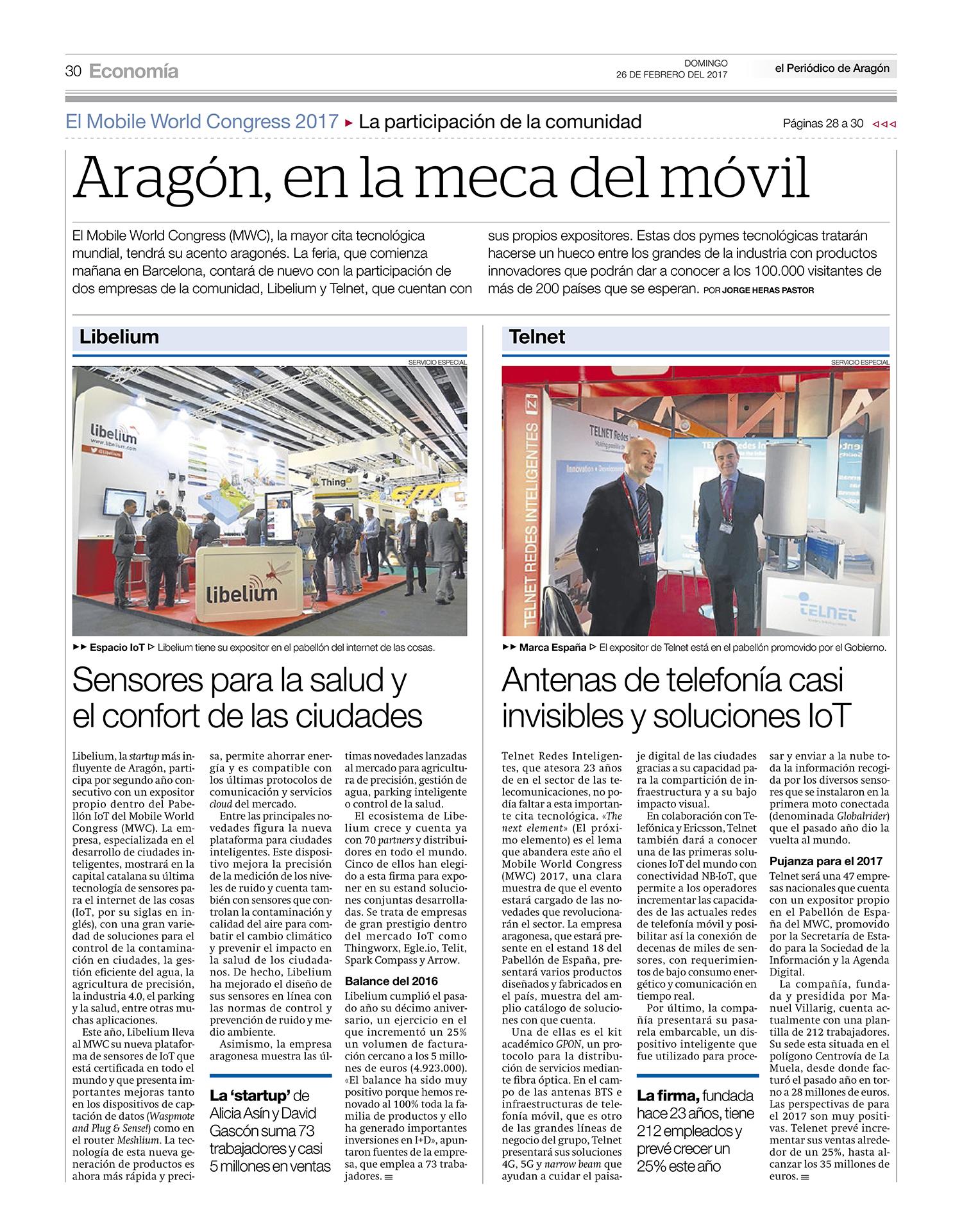 El Periódico de Aragón – Aragón, en la meca del móvil