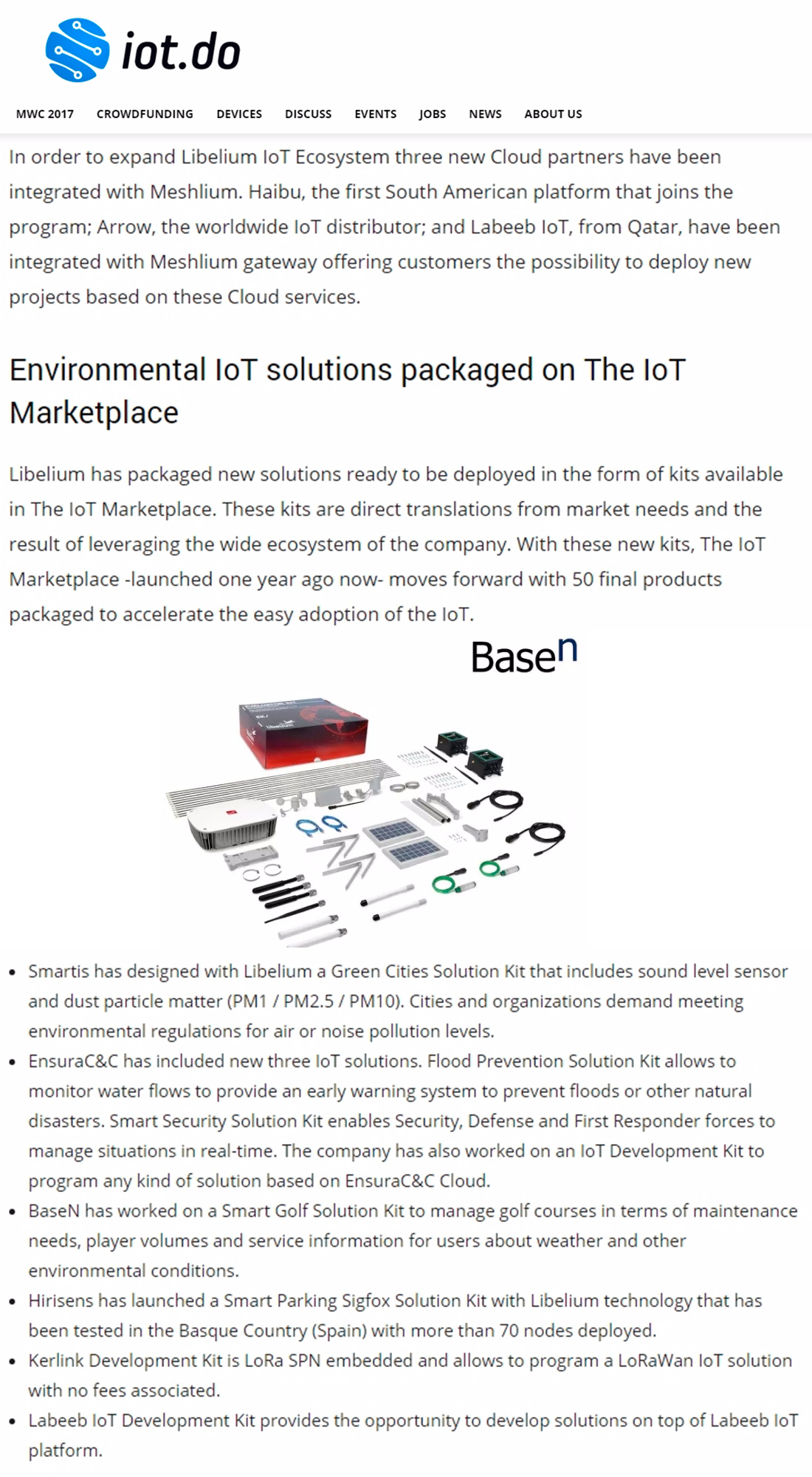 IoT.do – MWC17: Libelium presents IoT solutions