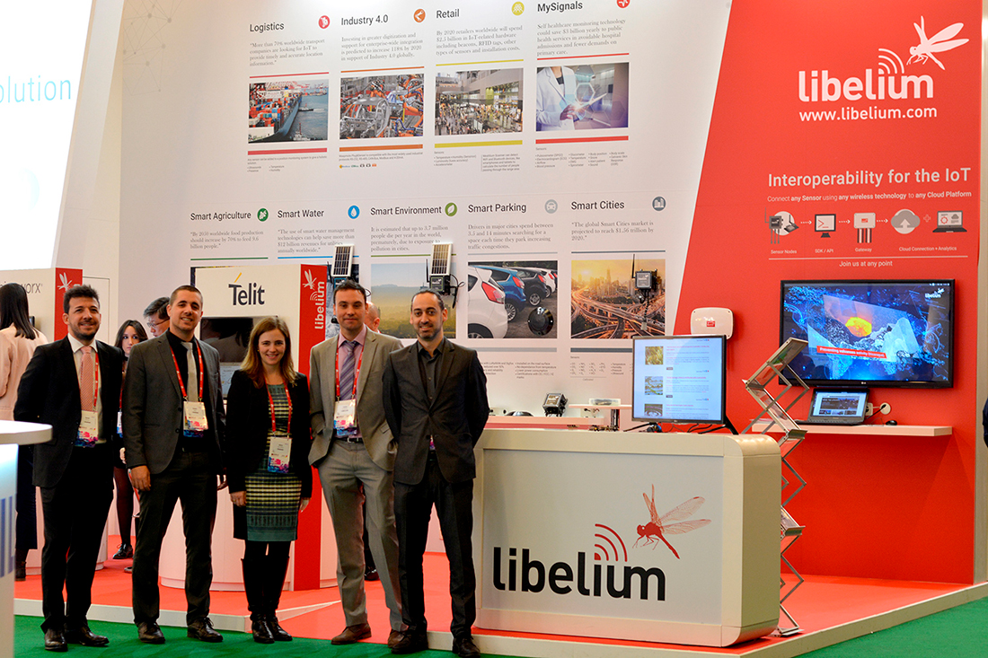 Libelium team at MWC 2017