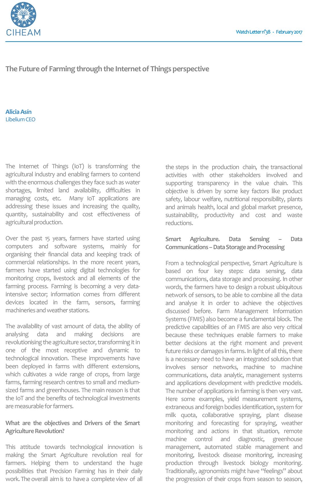 CIHEAM Watch Letter – The Future of Farming