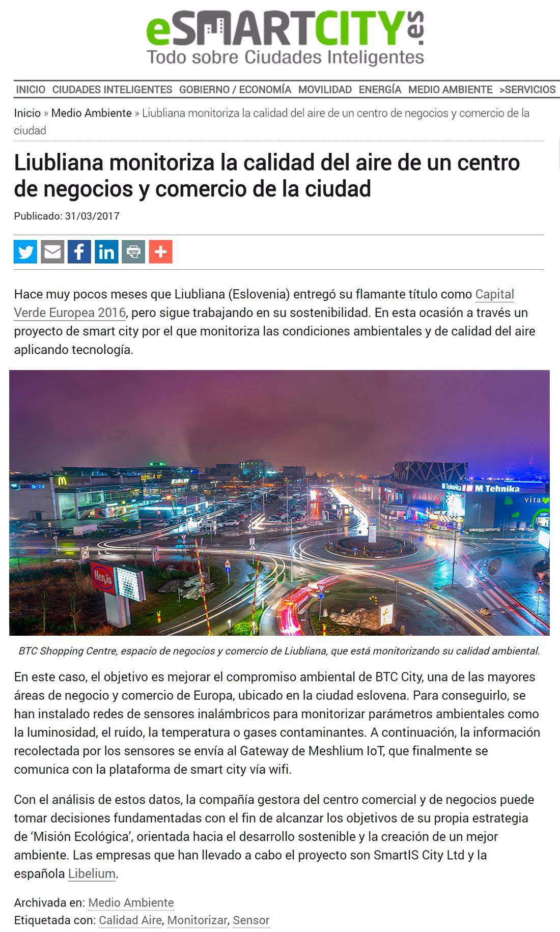 ESMARTCITY – Proyecto de Smart City en Liubliana