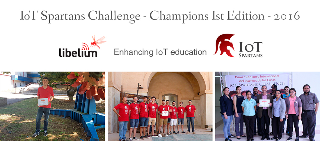 Champions of the first edition ot the IoT Spartans Challenge