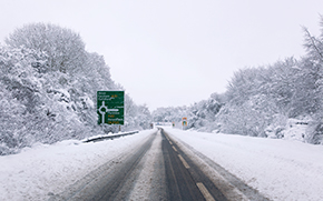 Snow and ice monitoring in UK winter highways for a Smart Road management