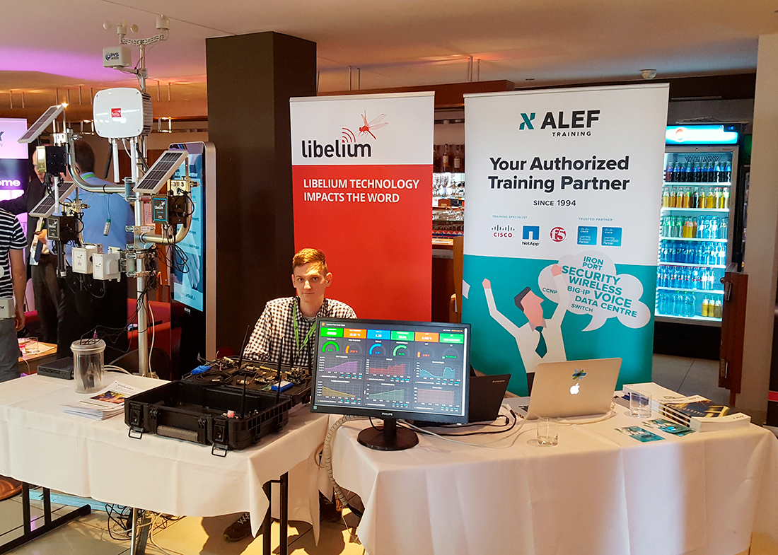 ALEF stand in Metroonline with Libelium products