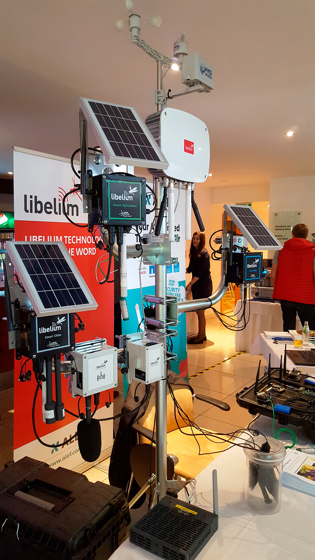Libelium smart solutions at ALEF stand in Metro ON Line