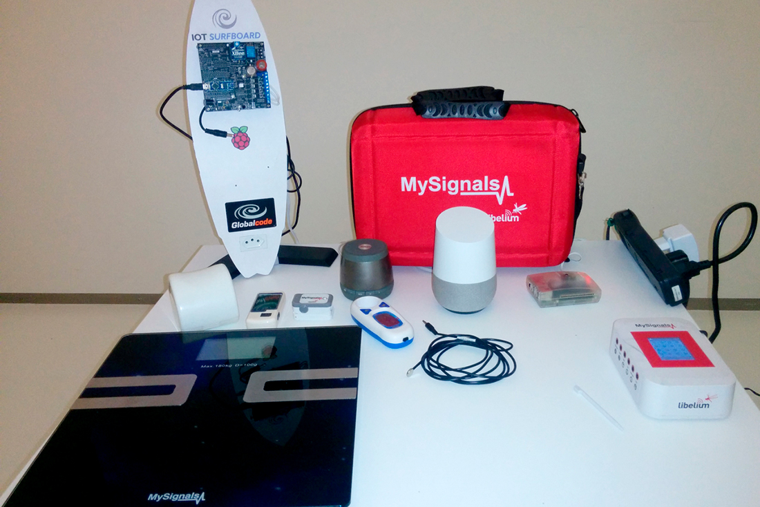 Material for the hands-on lab based on MySignals