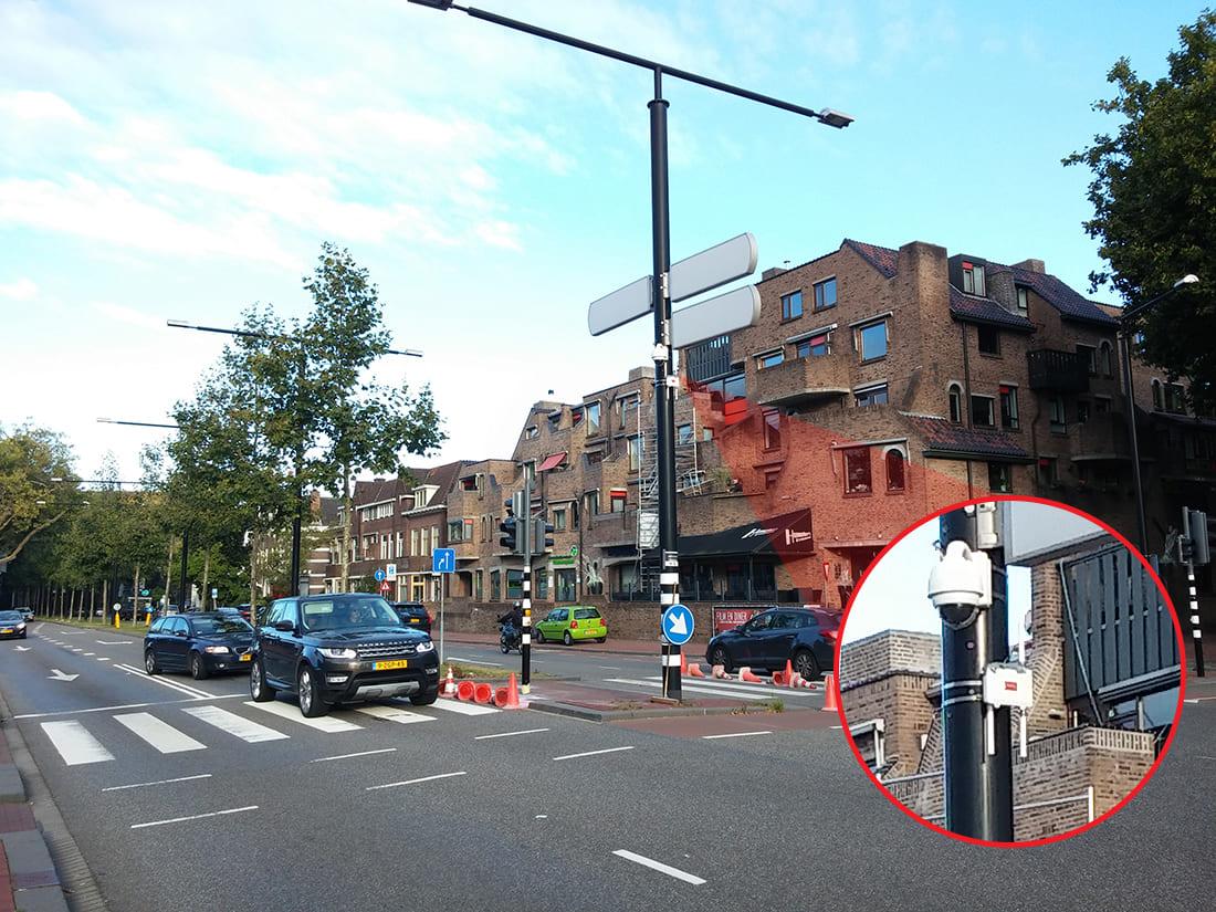 A Meshlium IoT Gateway installed in a streetlight