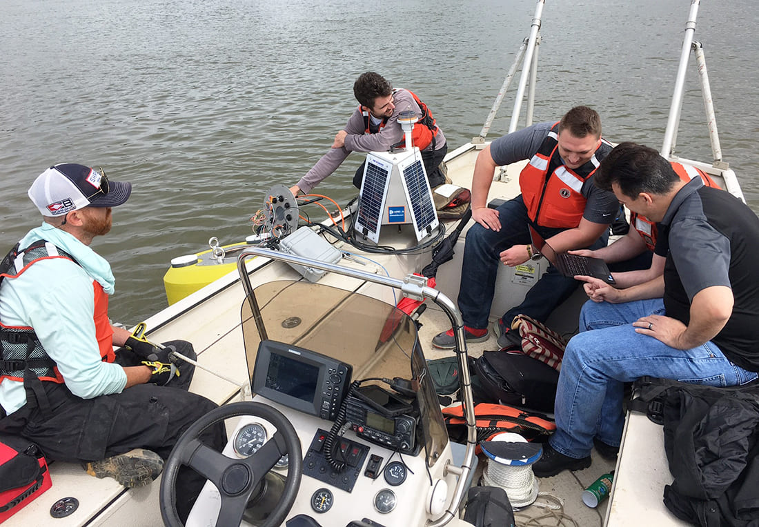 Aridea team and members of the US Army Corps of Engineers during WIZARD's deployment