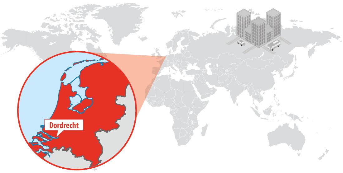 Map of Dordrecht