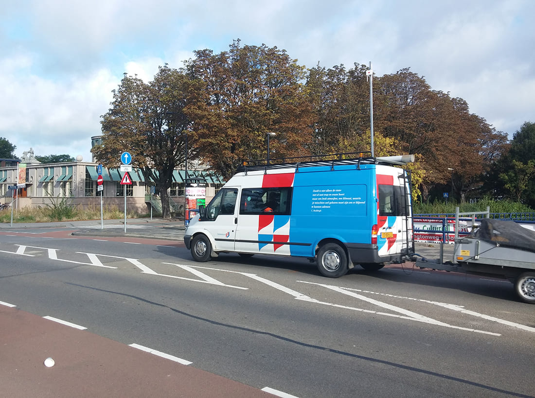 Meshlium Scanner installed in one of the main roads of Dordrecht