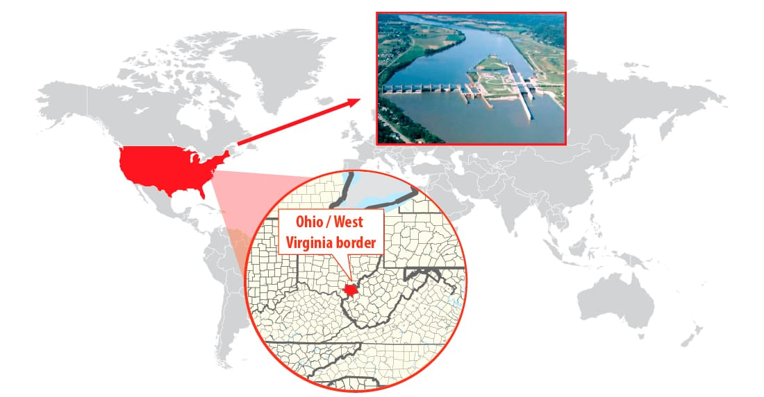 Robert C. Byrd Locks Dam in Ohio & West Virgina border