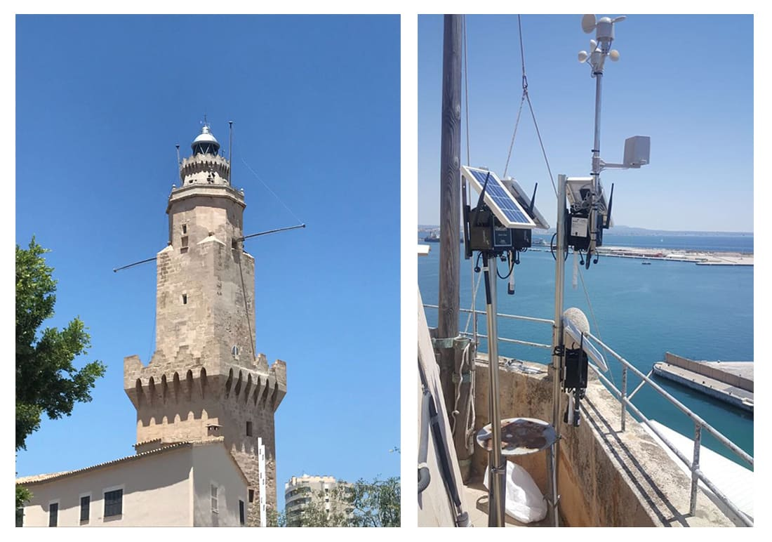 Sensor Platforms installed in Portopi Lighthouse