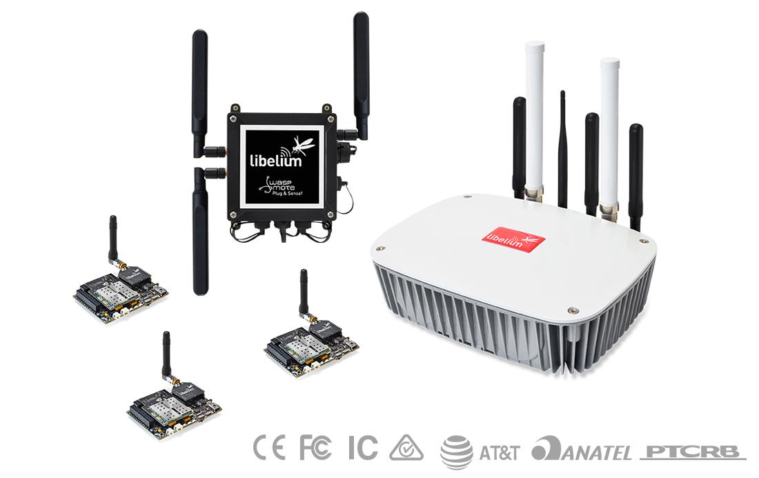Waspmote OEM, Waspmote Plug & Sense! and IoT Gateway Meshlium worldwide certified