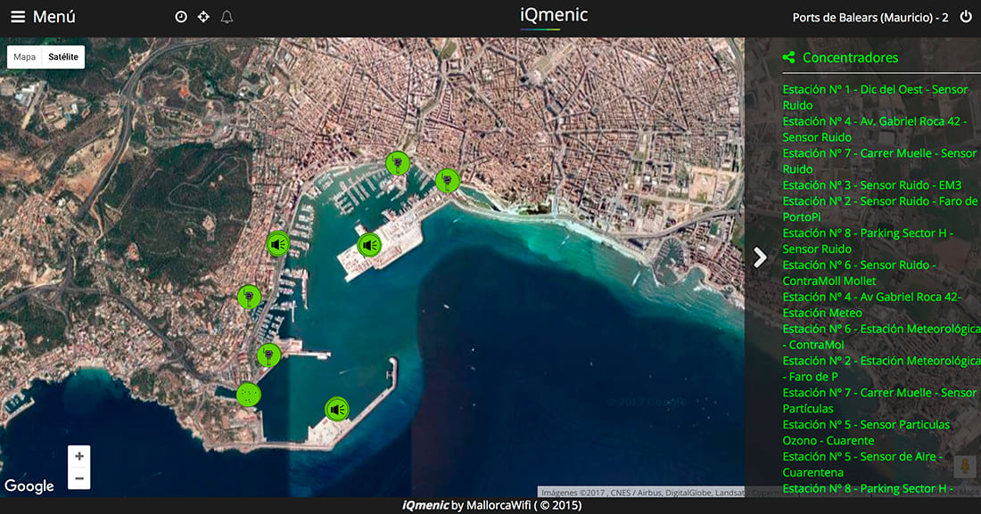 iQmenic platform where the information is visualized