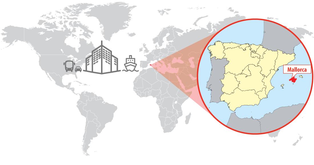 Map of Mallorca