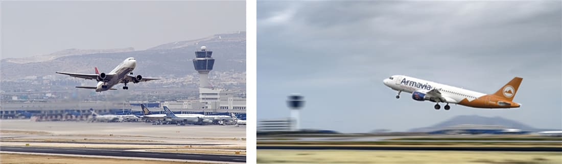 Takeoffs at Athens International Airport