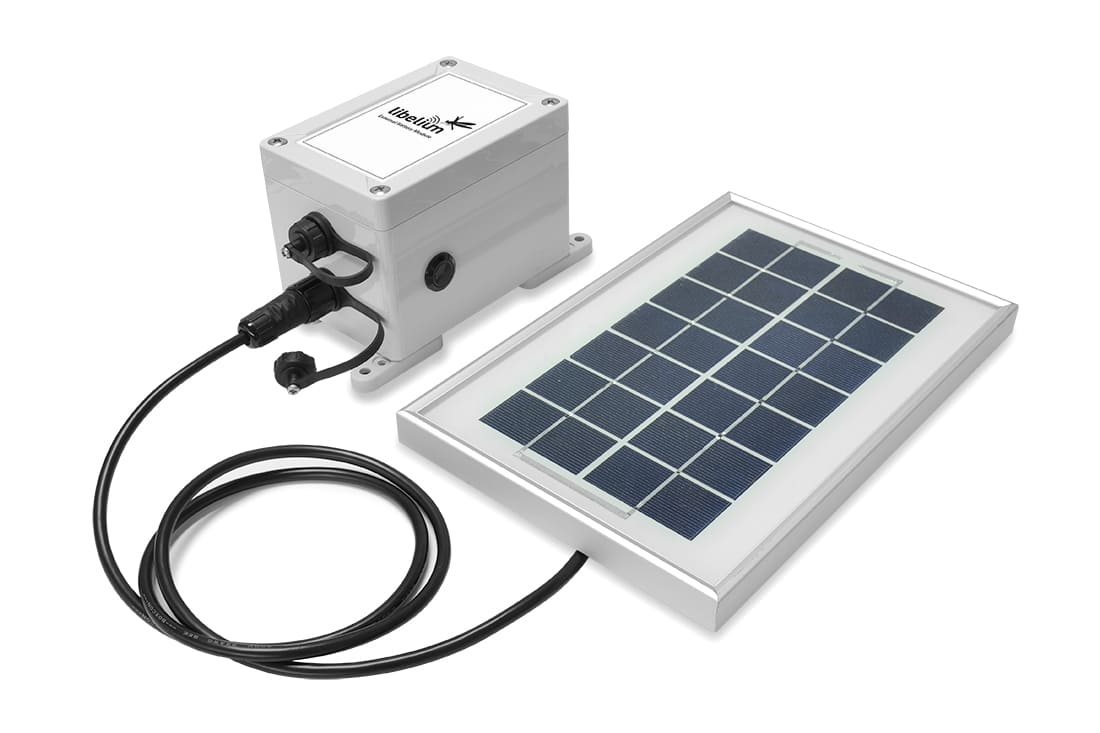 Connecting the External Battery Module to the solar panel